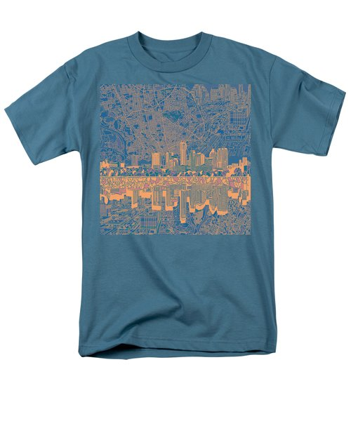 Austin Texas Skyline 2 Men's T-Shirt  (Regular Fit) by Bekim Art