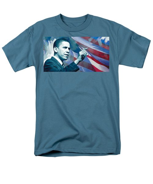 Barack Obama Artwork 2 Men's T-Shirt  (Regular Fit) by Sheraz A