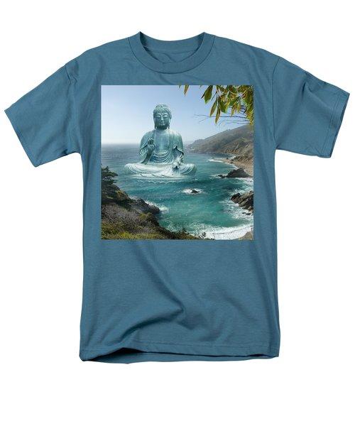 Big Sur Tea Garden Buddha T-Shirt by Alixandra Mullins
