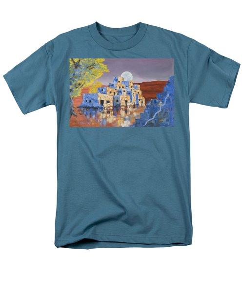 Blue Serpent Pueblo T-Shirt by Jerry McElroy