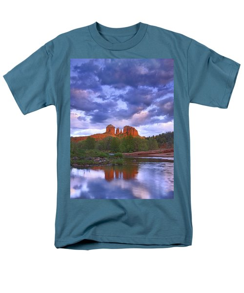 Cathedral Rock And Oak Creek At Red T-Shirt by Tim Fitzharris