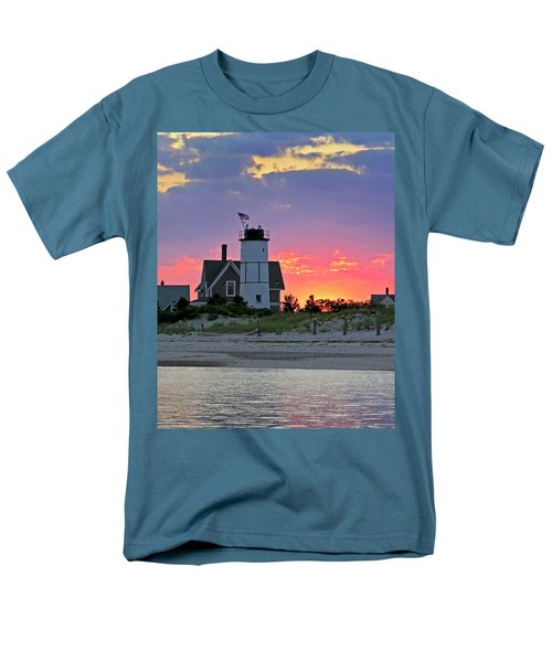 Cocktail Hour at Sandy Neck Lighthouse T-Shirt by Charles Harden