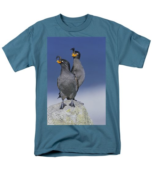 Crested Auklet Pair Men's T-Shirt  (Regular Fit) by Toshiji Fukuda