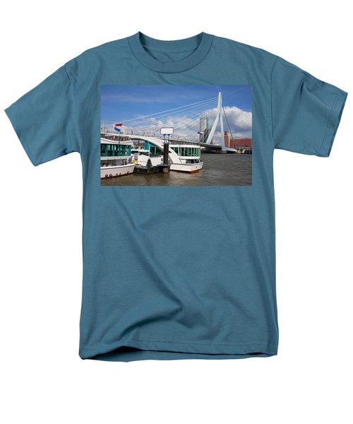 Erasmus Bridge in Rotterdam Downtown T-Shirt by Artur Bogacki