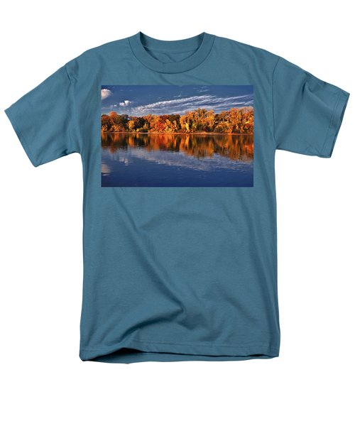 Fall on the Mississippi river T-Shirt by Todd and candice Dailey