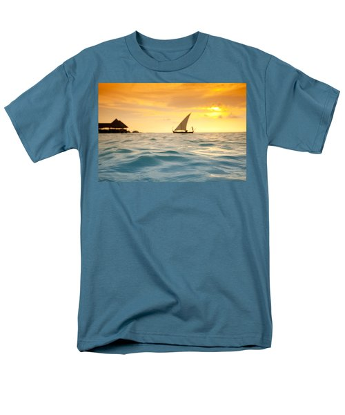 Golden Dhoni Sunset T-Shirt by Sean Davey