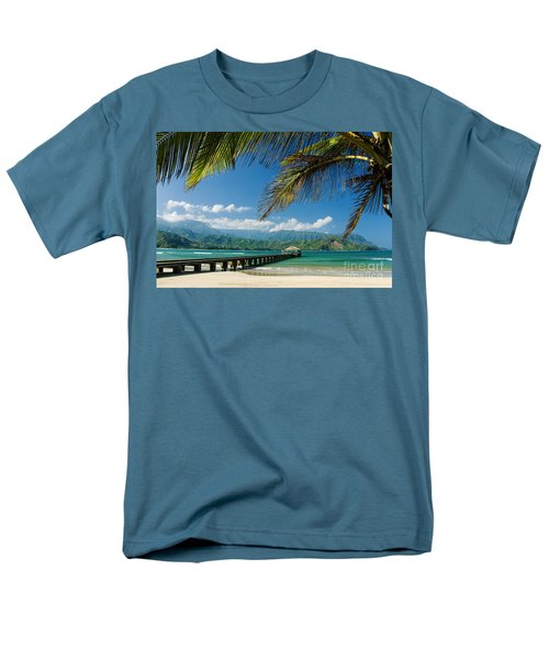 Hanalei Pier and beach T-Shirt by M Swiet Productions