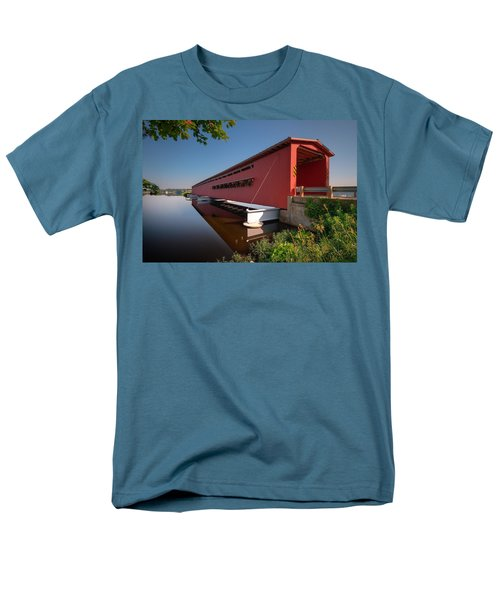 Langley Covered Bridge Michigan T-Shirt by Steve Gadomski