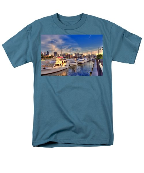 Late Afternoon at Constitution Marina - Charlestown T-Shirt by Joann Vitali