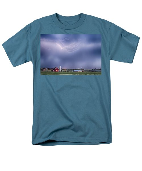 Lightning Storm And The Big Red Barn T-Shirt by James BO  Insogna