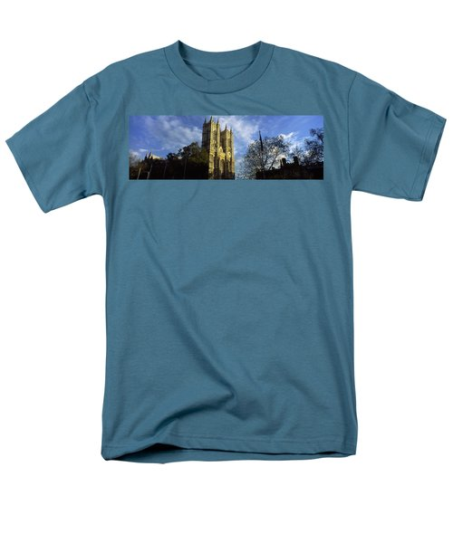 Low Angle View Of An Abbey, Westminster Men's T-Shirt  (Regular Fit) by Panoramic Images