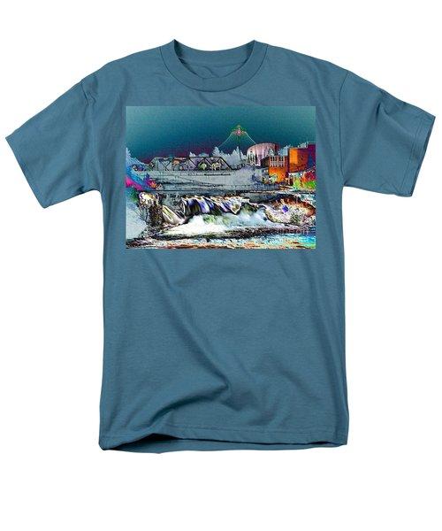 Neon Lights of Spokane Falls T-Shirt by Carol Groenen