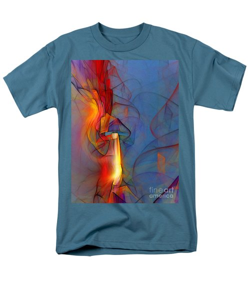Out of the Blue-Abstract Art T-Shirt by Karin Kuhlmann