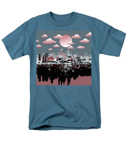 Philadelphia Skyline Abstract 6 Men's T-Shirt  (Regular Fit) by Bekim Art