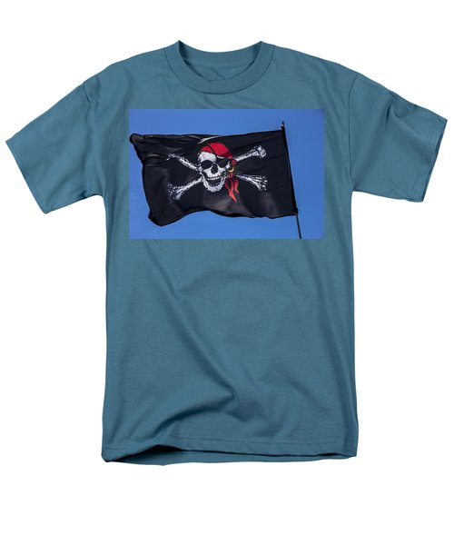 Pirate skull flag with red scarf T-Shirt by Garry Gay