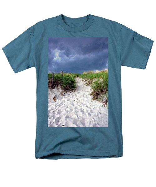 Sand Dune under Storm T-Shirt by Olivier Le Queinec