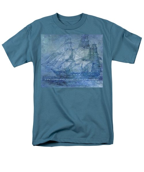 Ship 2 With Quote T-Shirt by Angelina Vick