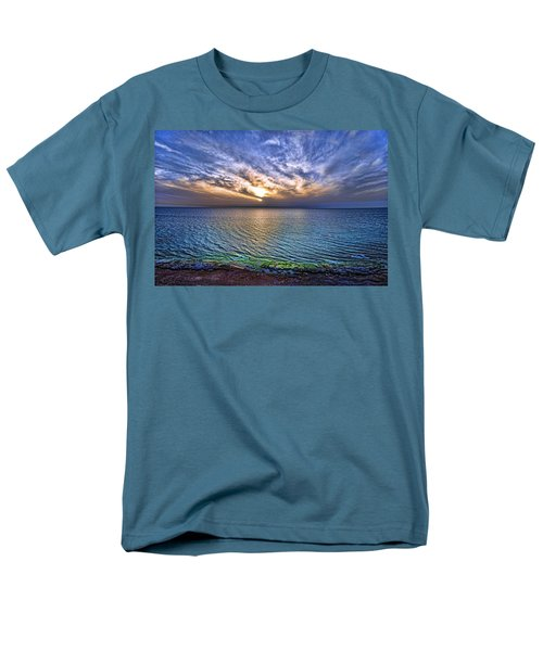 sunset at the cliff beach T-Shirt by Ron Shoshani