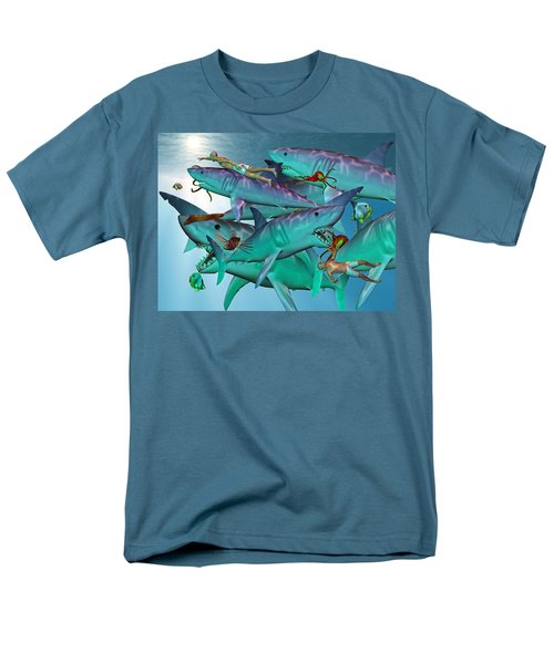 Swimming with the Big Boys T-Shirt by Betsy C  Knapp