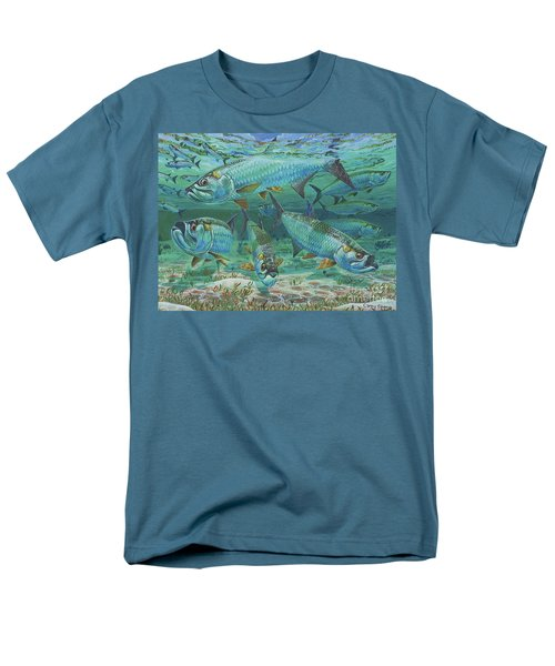 Tarpon Rolling In0025 Men's T-Shirt  (Regular Fit) by Carey Chen