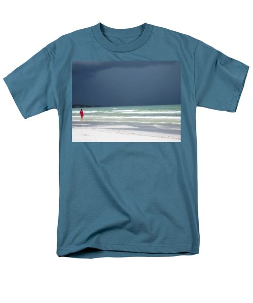 The Red Dress - Beach Art By Sharon Cummings T-Shirt by Sharon Cummings