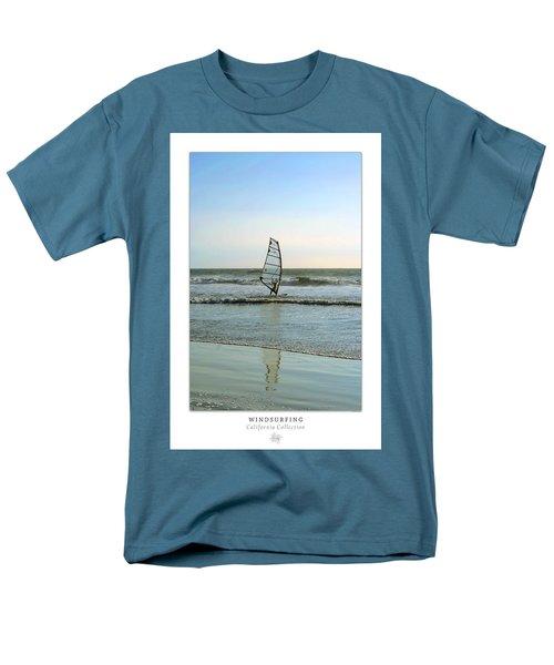 Windsurfing Art Poster - California Collection T-Shirt by Ben and Raisa Gertsberg