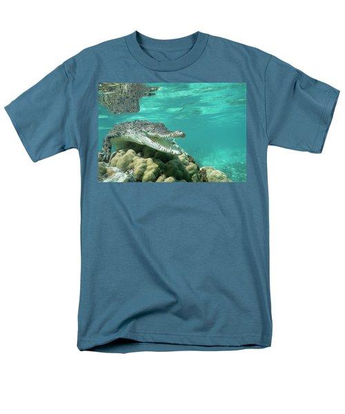 Saltwater Crocodile Crocodylus Porosus T-Shirt by Mike Parry
