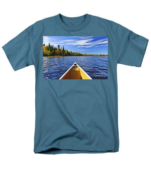 Canoe bow on lake T-Shirt by Elena Elisseeva