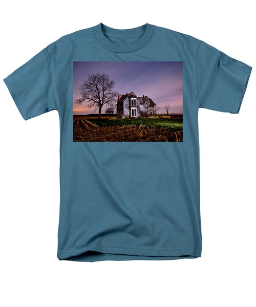 Farm House at night T-Shirt by Cale Best