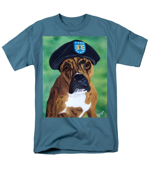 Military Boxer T-Shirt by Debbie LaFrance