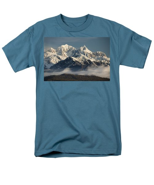 Mount Tasman And Mount Cook Southern T-Shirt by Colin Monteath