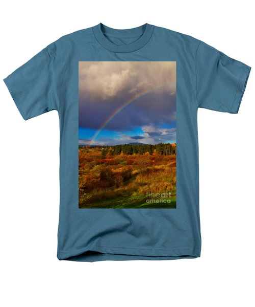 Rainbow over Rithets Bog T-Shirt by Louise Heusinkveld