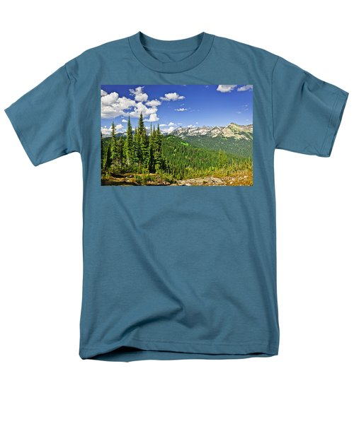 Rocky mountain view from Mount Revelstoke T-Shirt by Elena Elisseeva