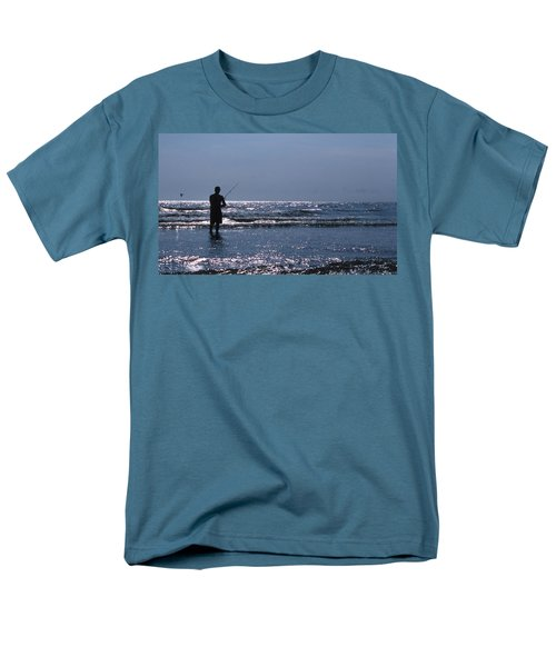 SOLITARY ANGLER T-Shirt by Skip Willits