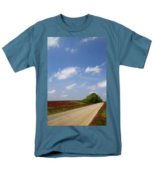 The Road Ahead Is Lined In Red T-Shirt by Kathy Clark