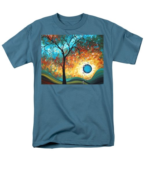 Aqua Burn by MADART T-Shirt by Megan Duncanson