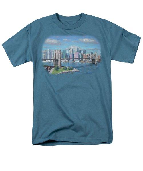 New York Brooklyn Bridge Men's T-Shirt  (Regular Fit) by Renato Maltasic