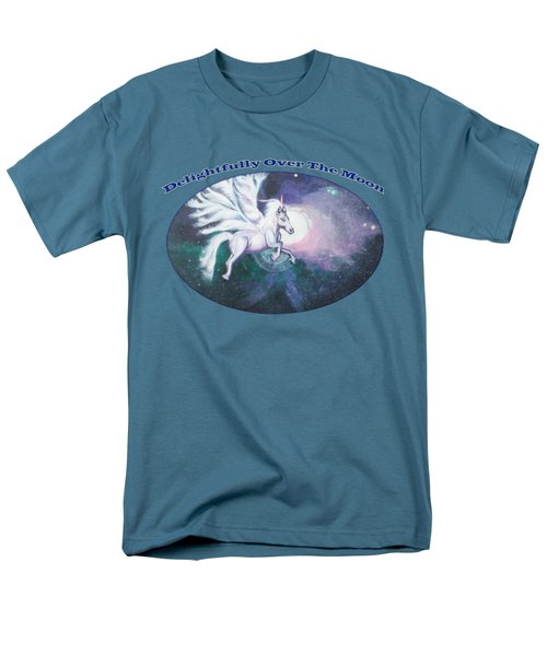 Unicorn And The Universe Men's T-Shirt  (Regular Fit) by Artist Nandika  Dutt