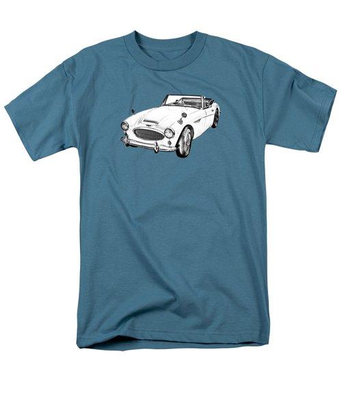 Austin Healey 300 Sports Car Drawing Men's T-Shirt  (Regular Fit) by Keith Webber Jr