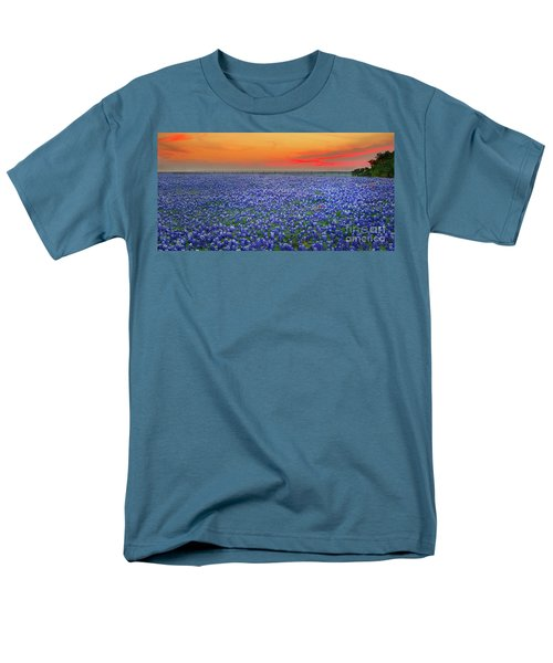 Bluebonnet Sunset Vista - Texas landscape T-Shirt by Jon Holiday