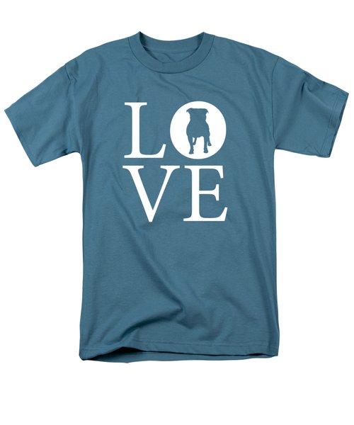 Bulldog Love Men's T-Shirt  (Regular Fit) by Nancy Ingersoll
