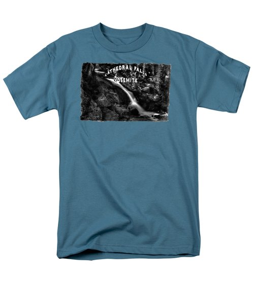 Cathedral Falls From The Tioga Pass Road Men's T-Shirt  (Regular Fit) by Roger Passman