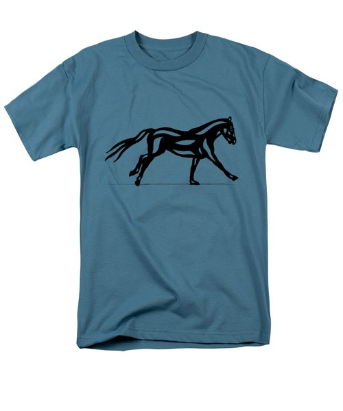 Clementine - Abstract Horse Men's T-Shirt  (Regular Fit) by Manuel Sueess