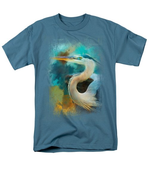 Colorful Expressions Heron Men's T-Shirt  (Regular Fit) by Jai Johnson
