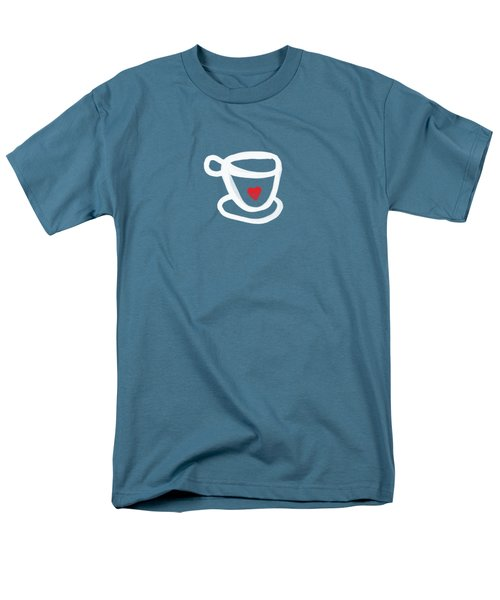 Cup Of Love- Shirt Men's T-Shirt  (Regular Fit) by Linda Woods