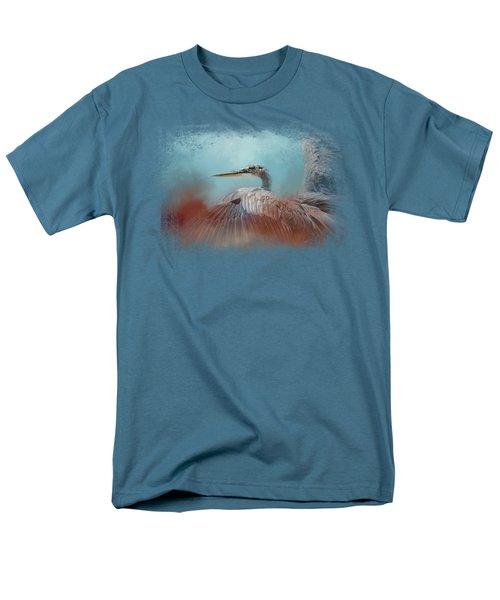 Emerging Heron Men's T-Shirt  (Regular Fit) by Jai Johnson