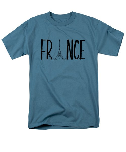 France Typography Men's T-Shirt  (Regular Fit) by Melanie Viola