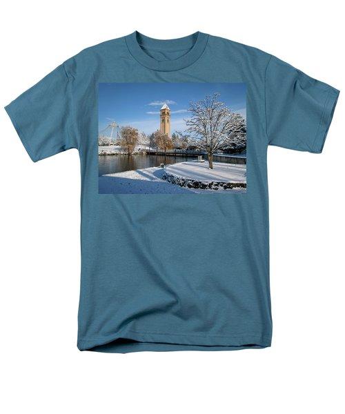 FRESH SNOW in RIVERFRONT PARK - SPOKANE WASHINGTON T-Shirt by Daniel Hagerman