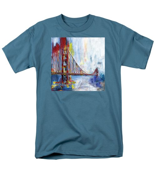 Golden Gate Bridge 218 1  Men's T-Shirt  (Regular Fit) by Mawra Tahreem