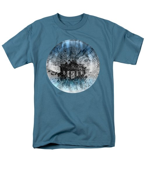 Graphic Art Berlin Brandenburg Gate Men's T-Shirt  (Regular Fit) by Melanie Viola